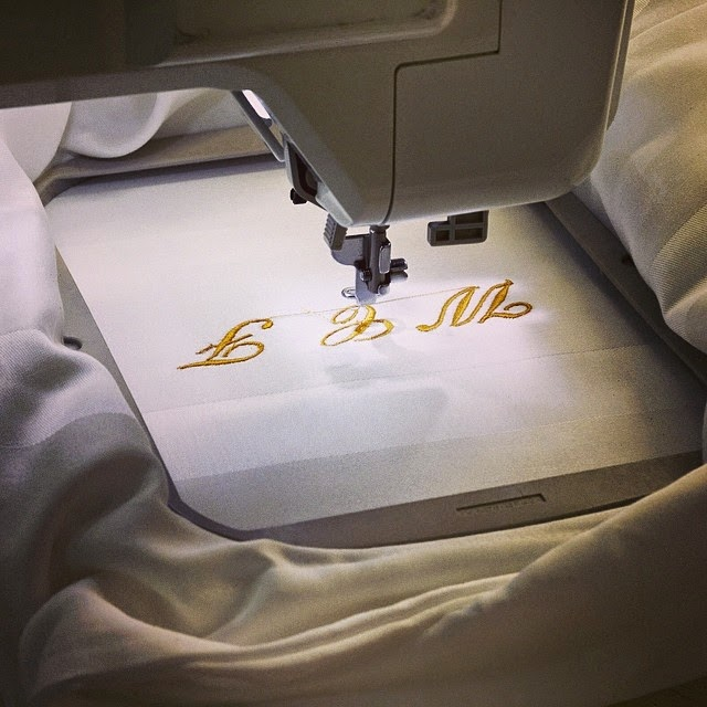 Monogrammed pillowcases at The Carlyle in NY.