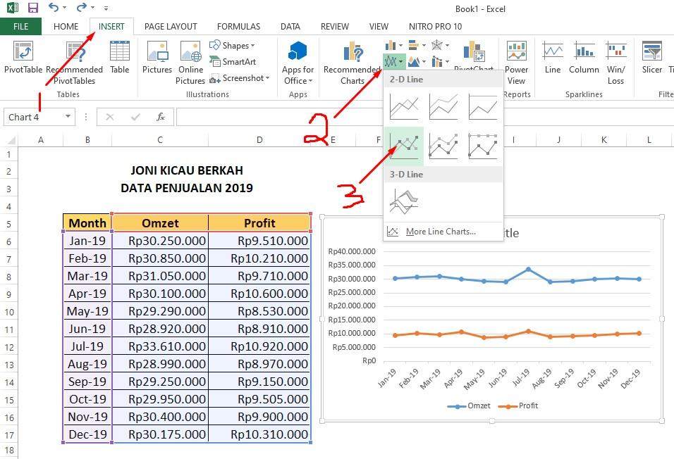 Cara Membuat Grafik Di Excel Dengan 2 Data Ternyata Mudah Pakar Dokumen