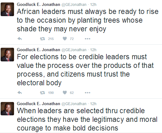 2 Photos: GEJ speaks on strong democratic institutions and credible elections at USA