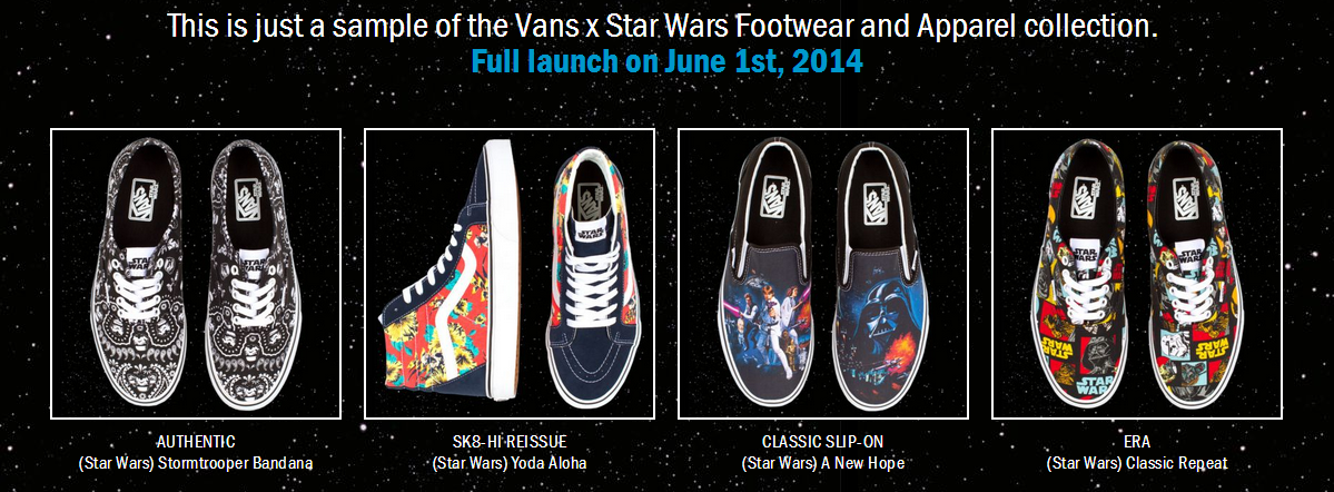 2e673b85d9 Star Wars Sneakers by Vans – Coming 06 01 14 Sometimes Nothing…