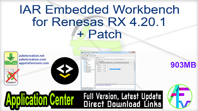 IAR Embedded Workbench for Renesas RX 4.20.1 + Patch