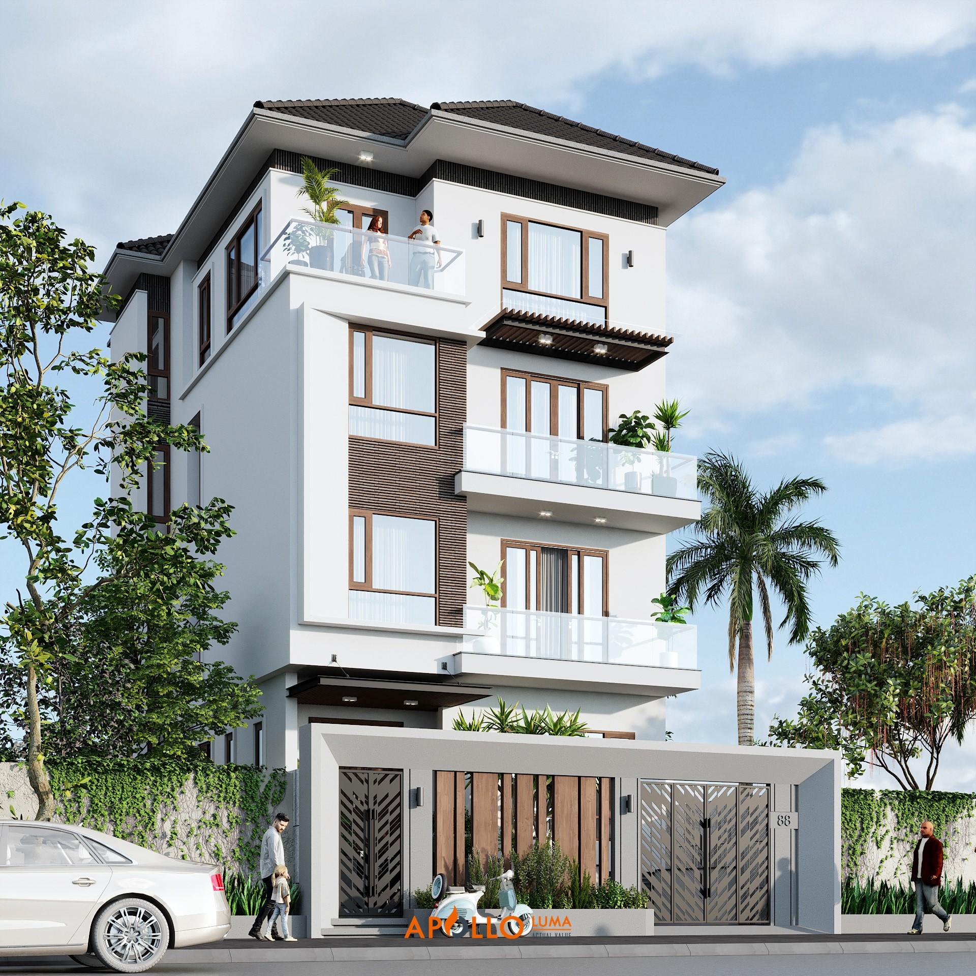 Mẫu thiết kế nhà phố 3 tầng tại Sóc Sơn - NP02