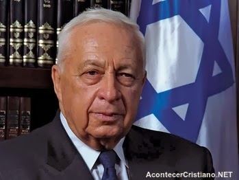 Exprimer ministro israelí Ariel Sharon