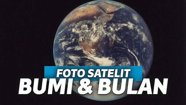 Foto Bulan dan Bumi dari Jarak 1,6 1,6 Juta Kilometer