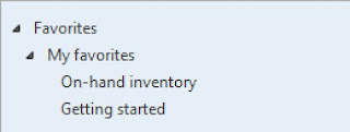 On-hand inventory has been added to the My favorites menu.