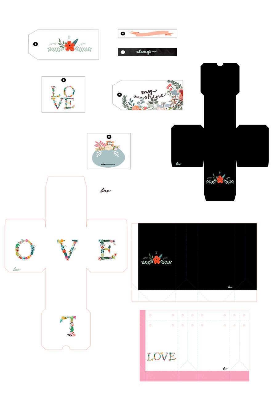 Packaing imprimible San Valentín
