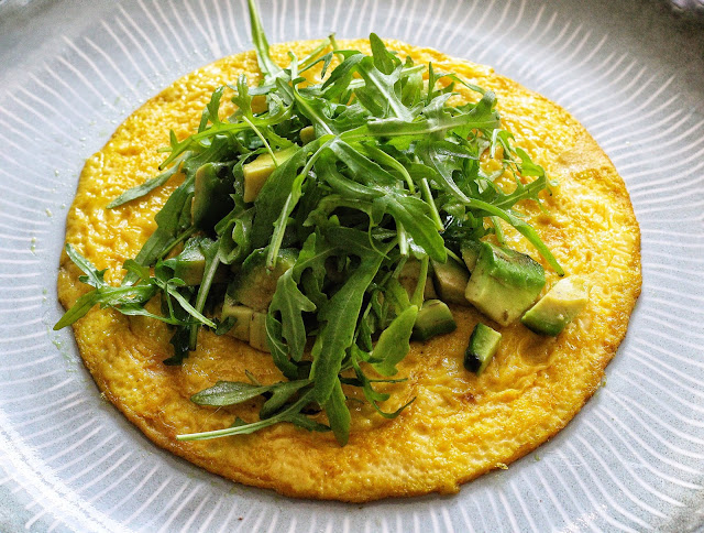 Open-faced Omelette with Arugula