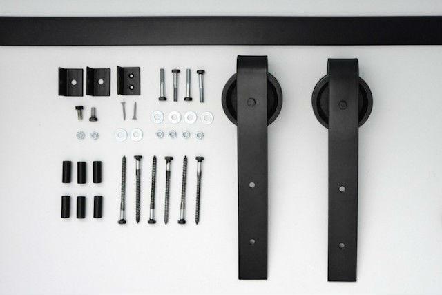 Como reciclar un palet para convertirlo en una puerta corredera, materiales del Kit