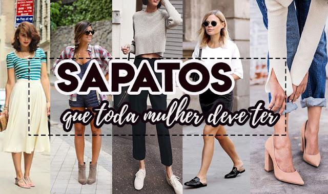 5 SAPATOS QUE TODA MULHER DEVE TER NO ARMÁRIO