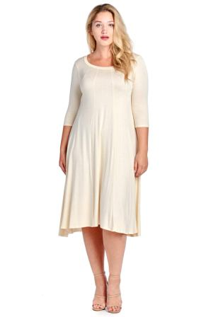 Modern Kiwi Plus Size Long Sleeve Flowy Maxi Dress