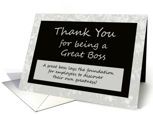 thank you message to boss