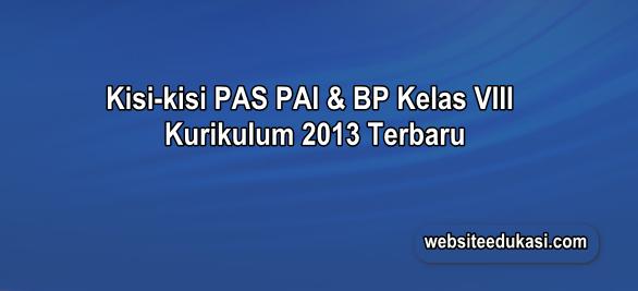 Kisi-kisi PAS PAI Kelas 8 Kurikulum 2013 Tahun 2019/2020