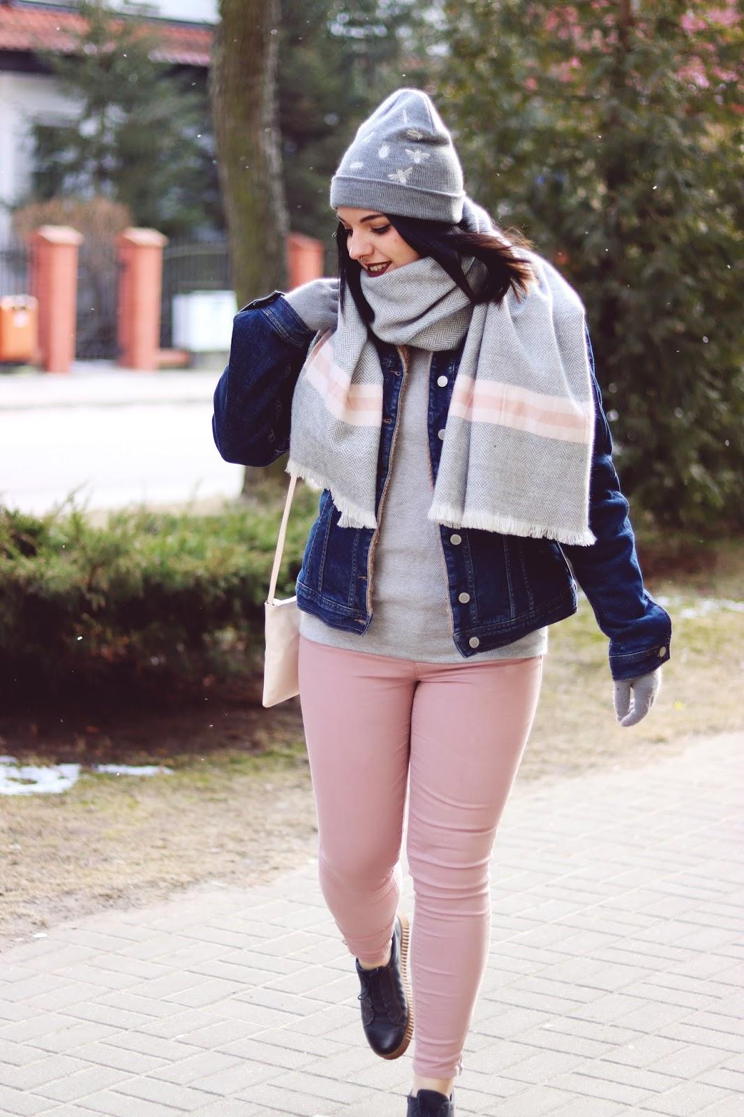 Ocieplana jeansowa kurtka