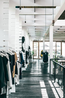 fashion store without customer
