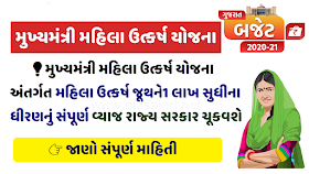 Gujarat Mukhyamantri Mahila Utkarsh Yojana 2020-21 Apply Online Form - Rs. 1 Lakh @ 0% Interest to Women
