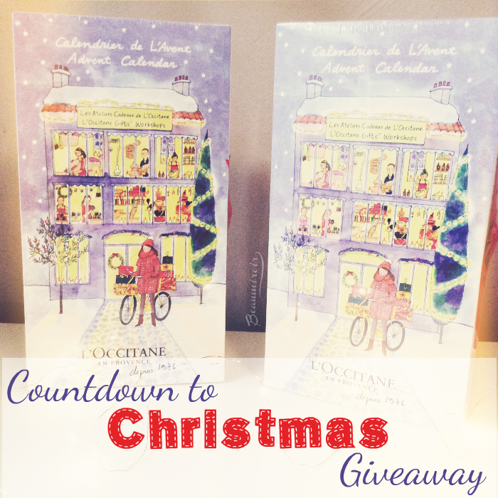 Giveaway: L'Occitane beauty Advent Calendar with skincare, body and bath products