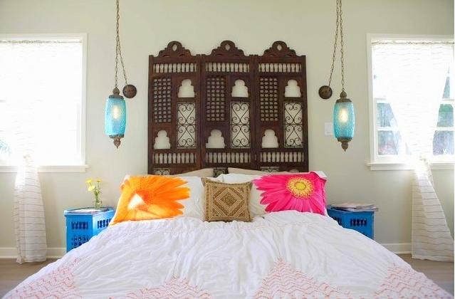 Kamar tidur Maroko etnik minimalis