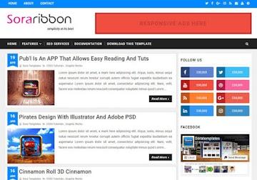 Sora Ribbon Blogger Template
