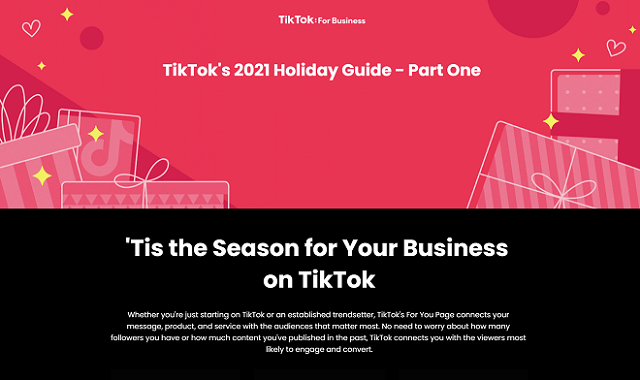 An infographic guide to the new Holiday Marketing strategy by TikTok