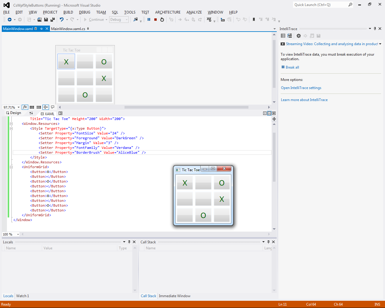 Programmer's Ranch: C# WPF: Styling buttons in a window