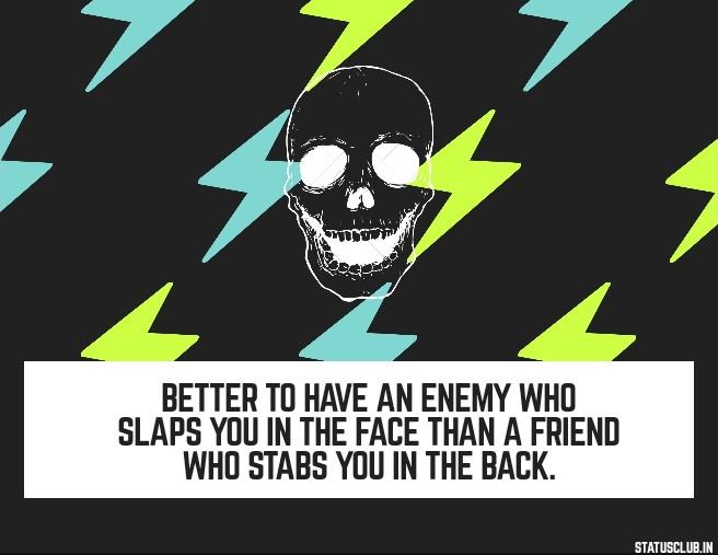 whatsapp status for enemy