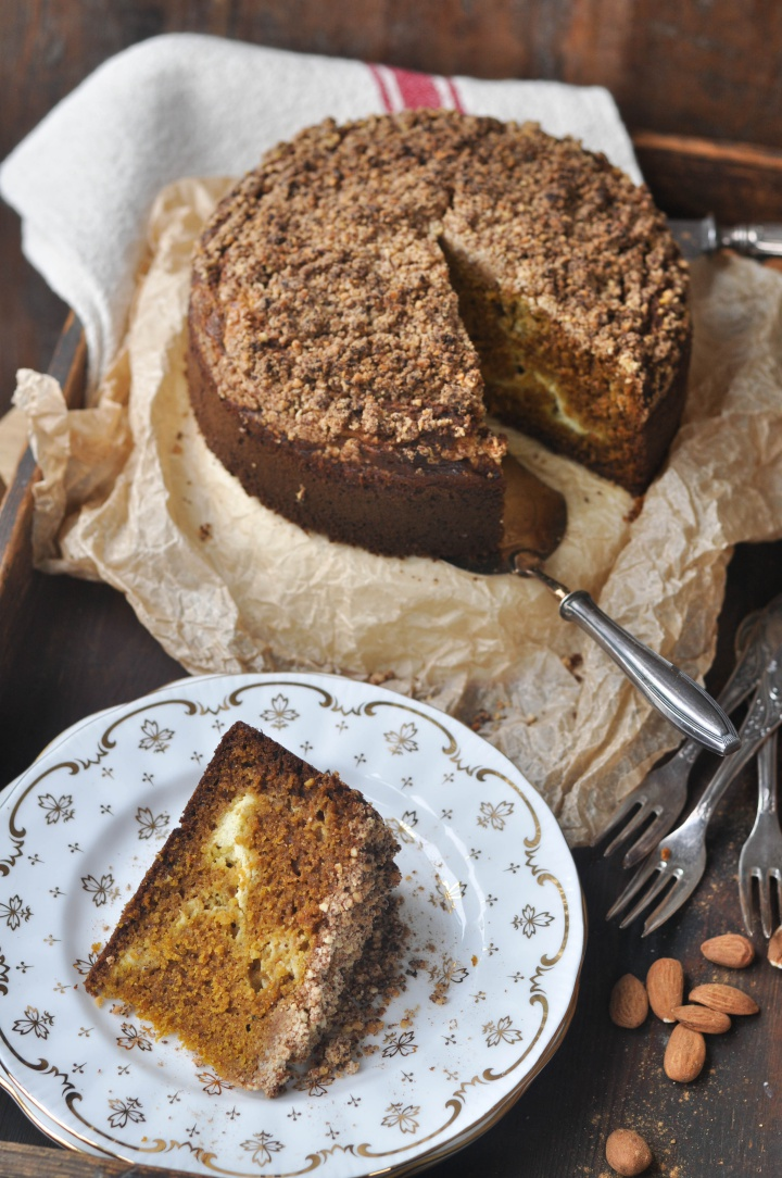 gluten free Pumpkin-Streusel-Cake with Cream Cheese filling