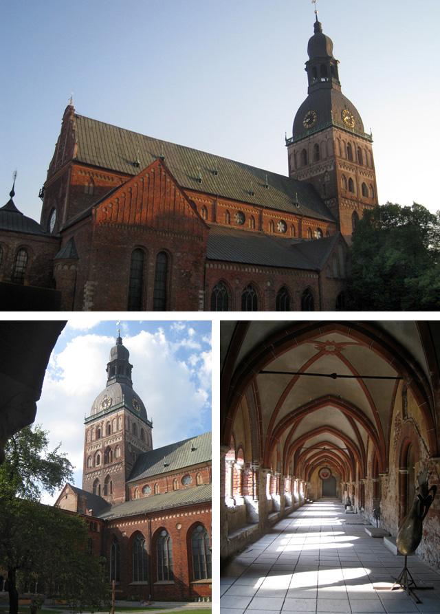 La catedral de Riga, sede del arzobispado de la iglesia luterana evangélica