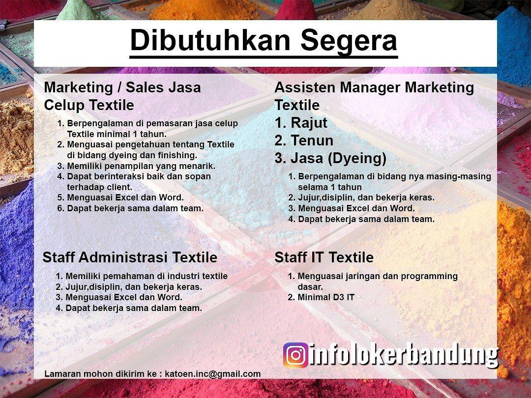 Lowongan Kerja Perusahaan Industry Textile Bandung September 2019