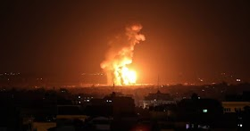 Israel bombs Gaza after terrorists send explosives toward southern Israel to kill Jews and burn their lands