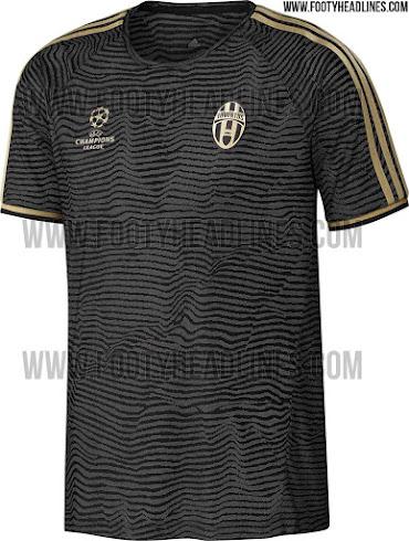 more photos c5c97 9eab5 Juventus 15-16 Champions League Training Shirt Leaked ...