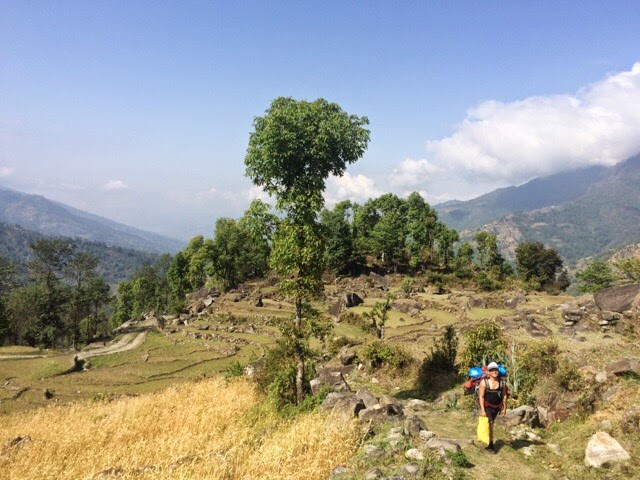 Challenging uphill trek