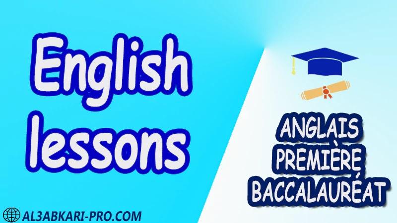 English lessons - Grammar Courses - Anglais Première baccalauréat PDF English 1 ère Bac première baccalauréat 1 er bac 1 ere