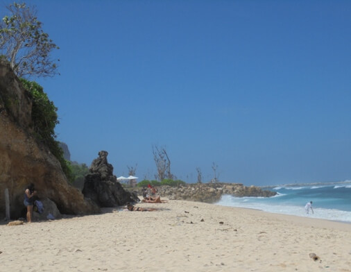 Melasti Ungasan Beach is ane of the novel beach attractions in Bali BeachesinBali: Melasti Beach Ungasan Bali - Amazing Beach in addition to Aerial View!