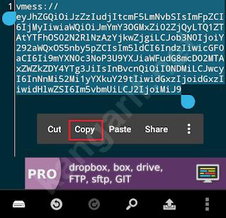 salin konfigurasi akun v2ray
