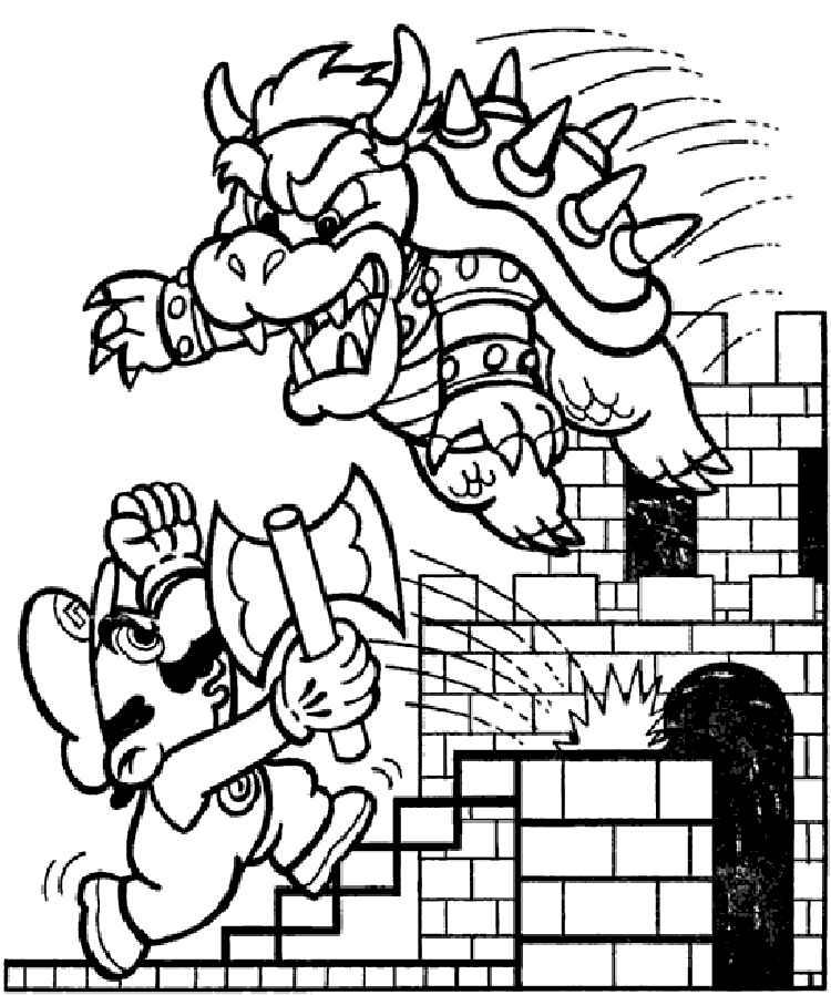 Nintendo Coloring Pages  Vosvetenet