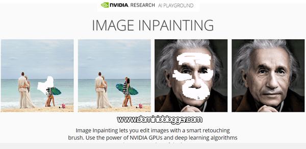 Inpainting de Nvidia