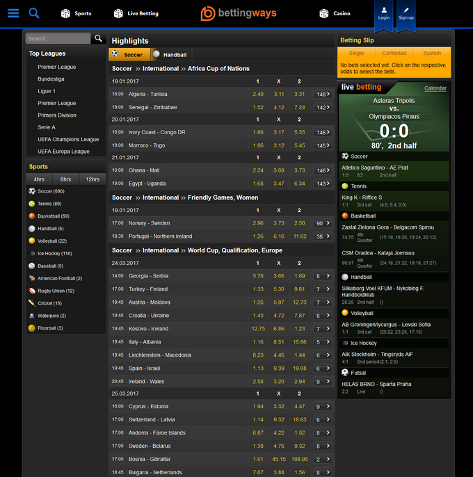 BettingWays Screen