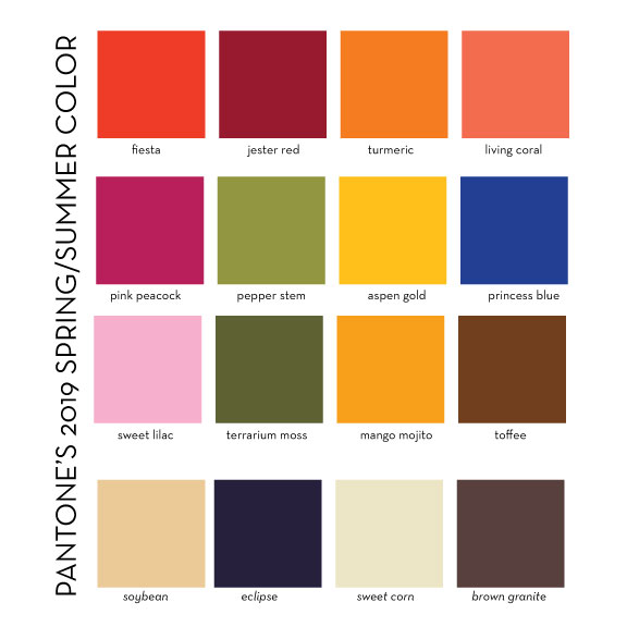 Designs in paper pantone 39 s 2019 spring summer colors - Color for new year 2019 ...