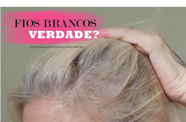 raiz do cabelo com fio branco