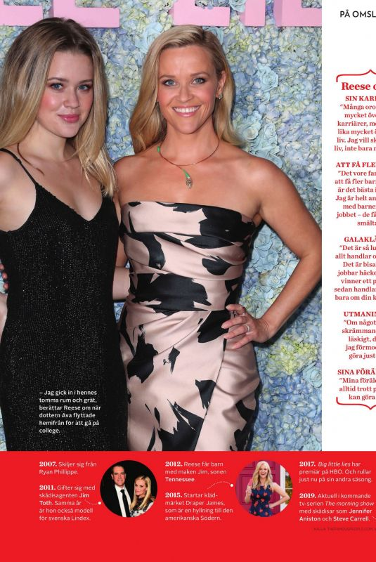 Reese Witherspoon and Ava Phillippe in Amelia Magazine -September 2019