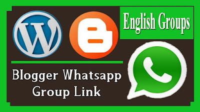 English Blogger WhatsApp group links