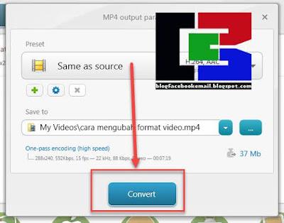 cara mengklik convert untuk memulai proses converting