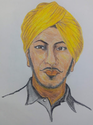 Drawing image of Bhagatsingh