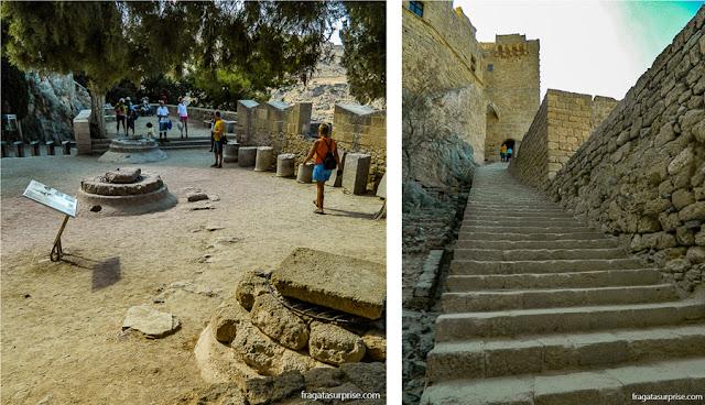 Fortificações dos Cruzados na Acrópole de Lindos