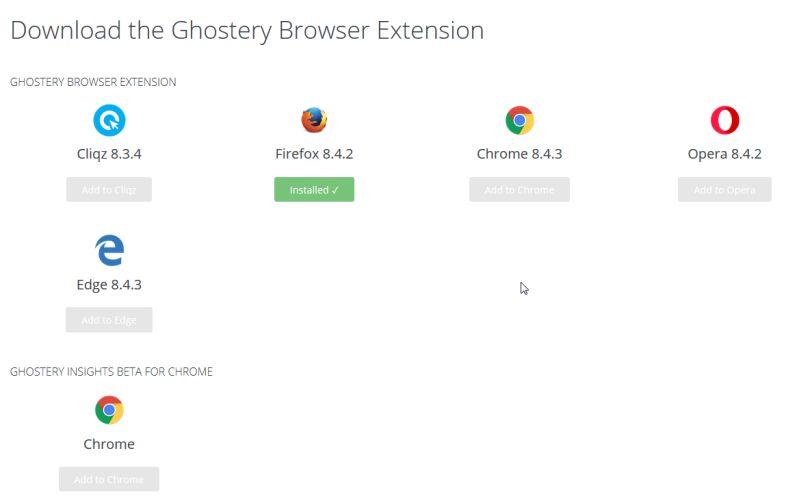 Tracker von Ghostery downloaden und installieren