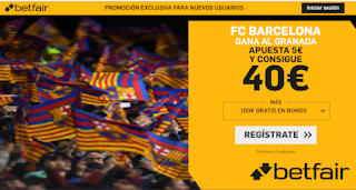 betfair supercuota Barcelona v Granada 19-1-2020