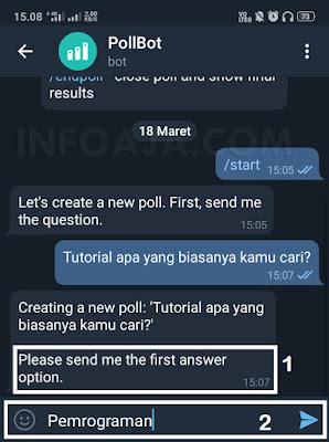 Polling aplikasi telegram