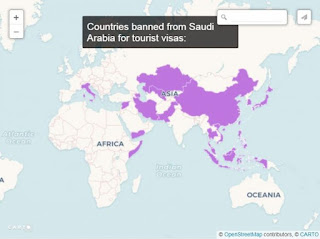 daftar negara terjangkit virus corona versi Arab Saudi