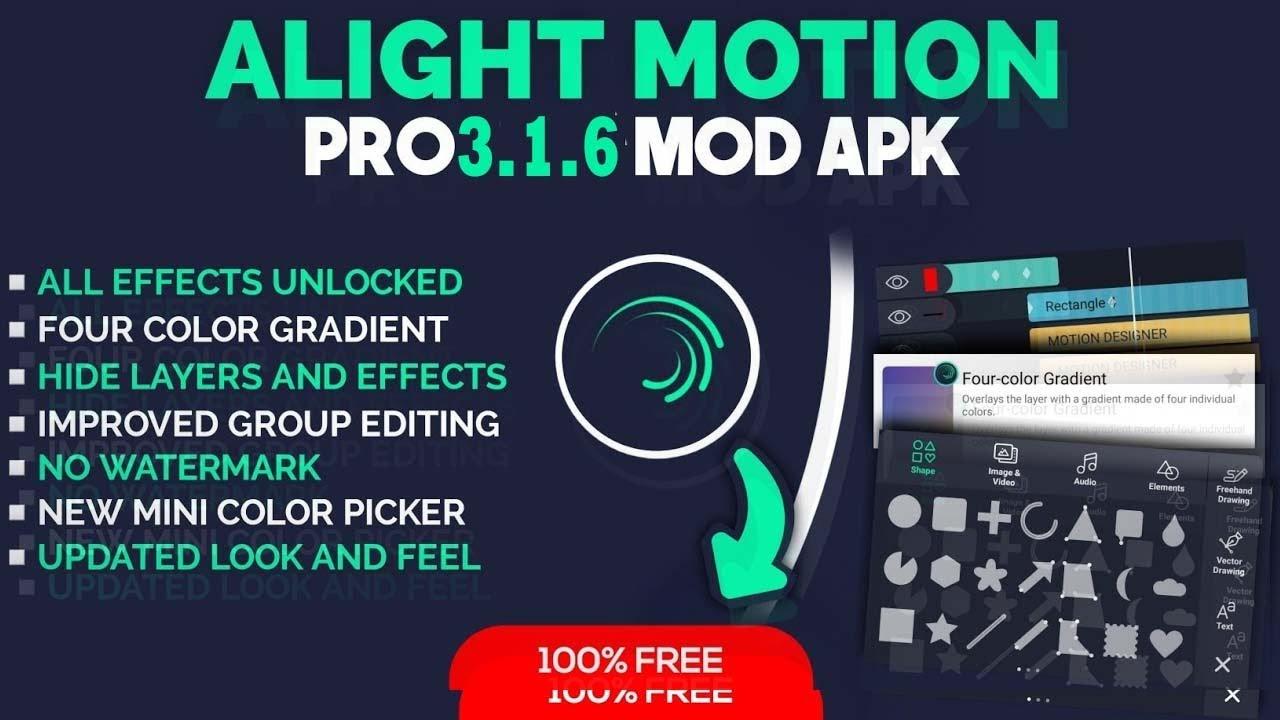 Download Apk Mod Alight Motion Pro 3.6.1 Unlock All, No Watermark