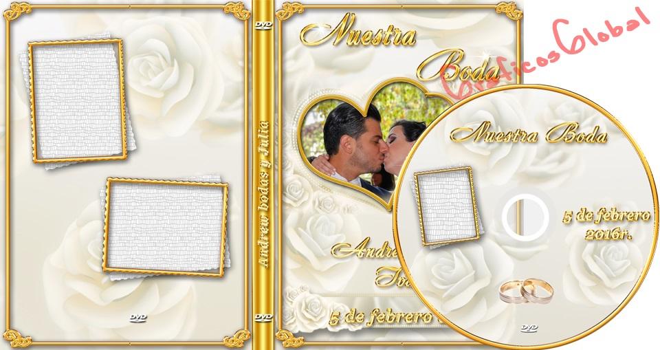 Plantillas psd diseño rosas con bordes floral DVD